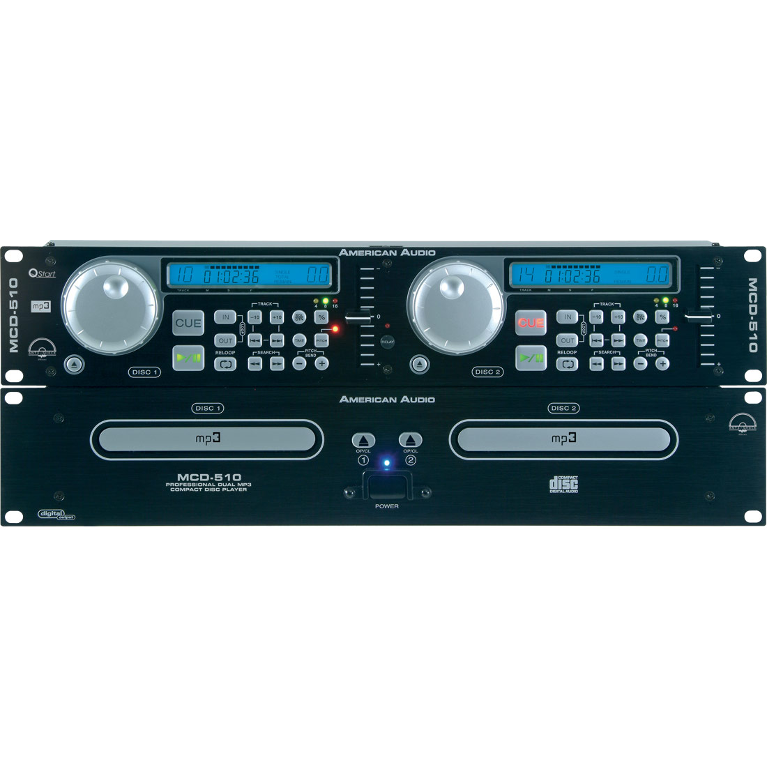 MCD 510 dual MP3 Disc player with 20sec
