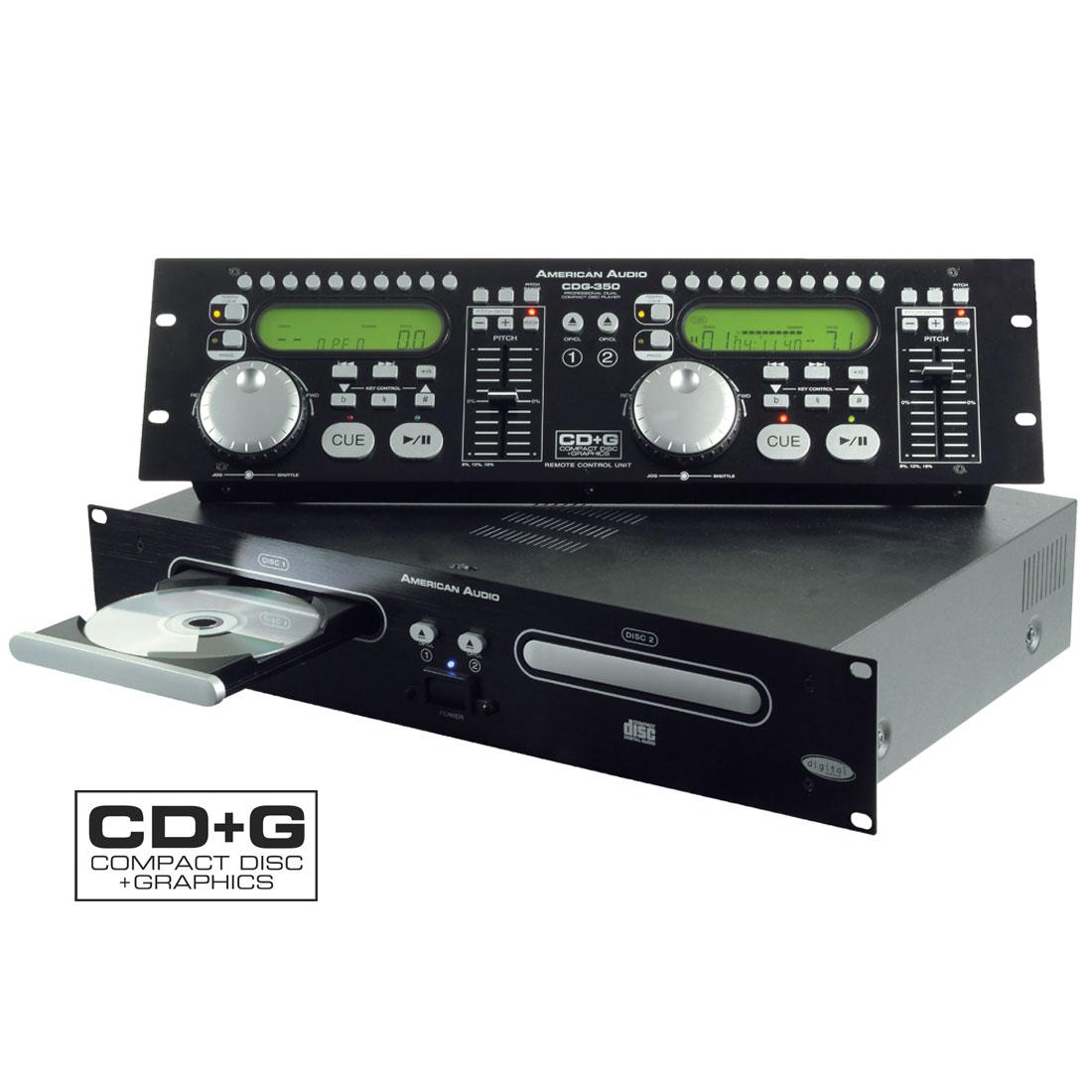 CDG350 dual CD/CDG player