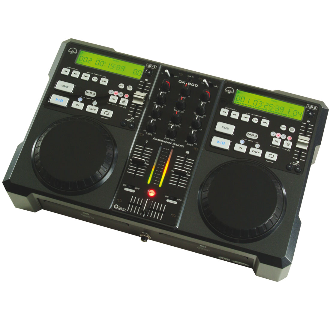 CK-800 MP3 double CD Player with mixer
