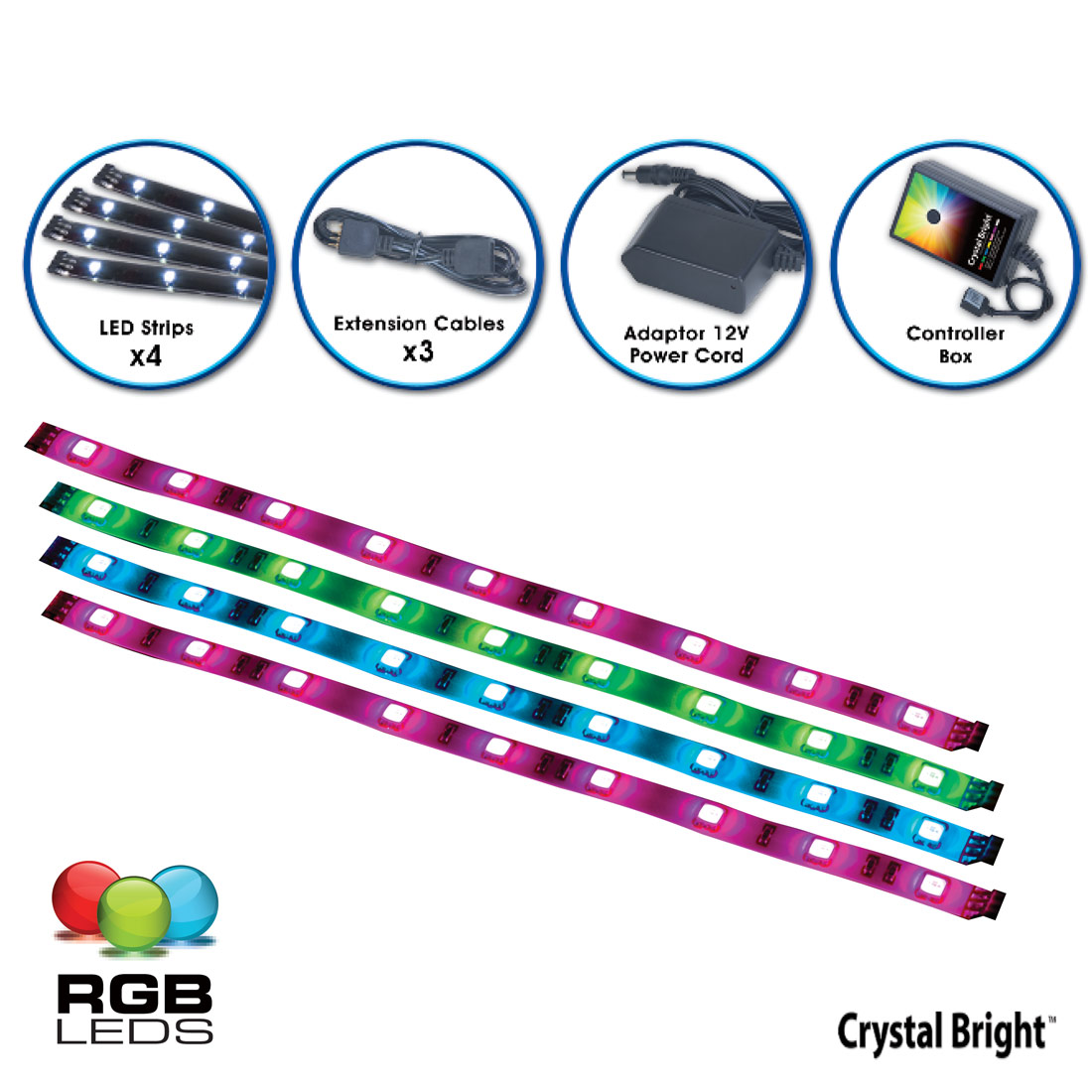 Accent Strip Black RGB