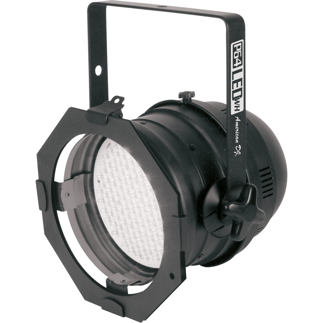 LED PAR 64 DMX white LEDs short black
